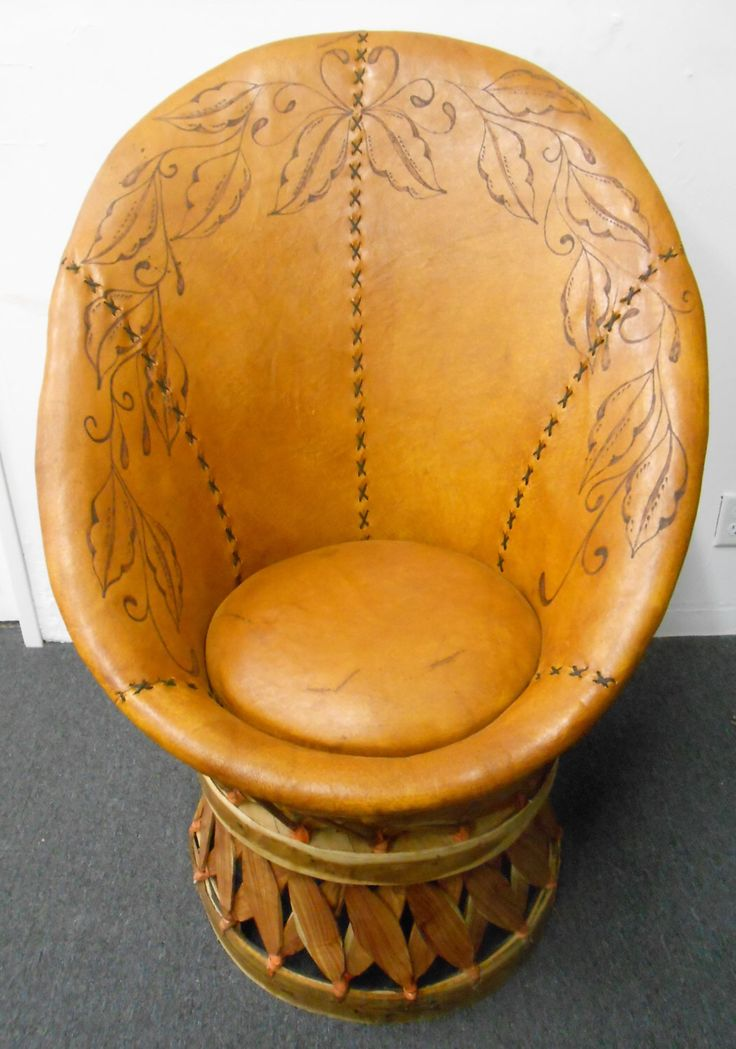 Equipales Rotating Lounge Chair with Custom Engraved Design, Rustic Mexican Furniture by TocayoImports on Etsy https://www.etsy.com/listing/504449183/equipales-rotating-lounge-chair-with