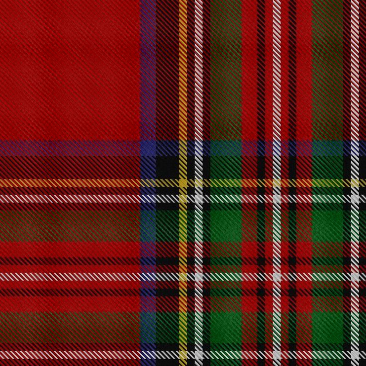 ~+~+~ Royal Stewart Tartan~ +~+~ Is by far the best known tartan of the royal House of Stewart, and is also the personal tartan of Queen Elizabeth II. It is appropriate for all subjects of Elizabeth II to wear the Royal Stewart tartan; in much the same way that clansmen may wear the tartan of their clan chief. Officially, the tartan is worn by the pipers of the The Black Watch (Royal Highland Regiment) of Canada, Royal Scots Dragoon Guards and the Scots Guards.