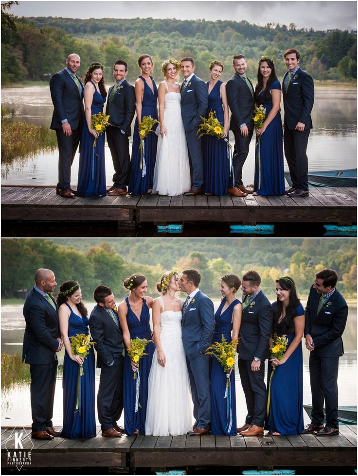Wedding Party On A Dock Over Starlight Lake Love The