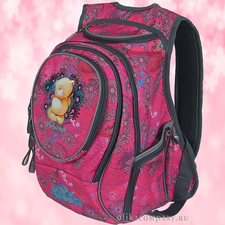 Рюкзак 13360 розовый, размеры 26*18*38 см 2000 руб #сумки #рюкзак #учеба #школа