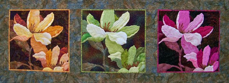 Magnolias in a Different Light by Judy K Lilly || Quilt Festivals and Antique Shows by Mancuso Show Management #Quiltfest #quilt #quilts #quilting #textiles #sewing #design #art