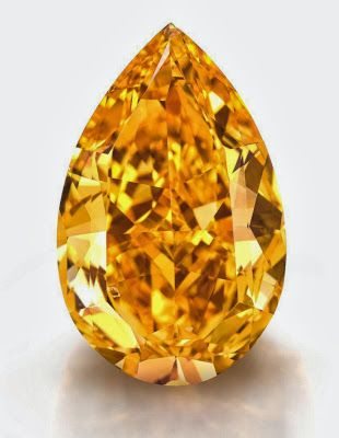 The Orange is the largest fancy vivid orange diamond ever to appear at auction weighs about 14.82 carats..  It is up for sale for the Christie's magnificent Jewels in Geneva on 11/12/13.