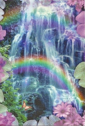 Waterfall Rainbow | Heaven | Pinterest
