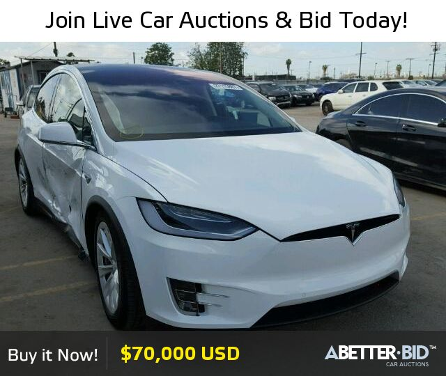 Salvage  2016 TESLA TESLA for Sale - 5YJXCBE2XGF003544 - https://abetter.bid/en/27115867-2016-tesla-model_x