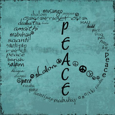 Peace Sign by Anna Quach  via allposters.com ~ $9.99