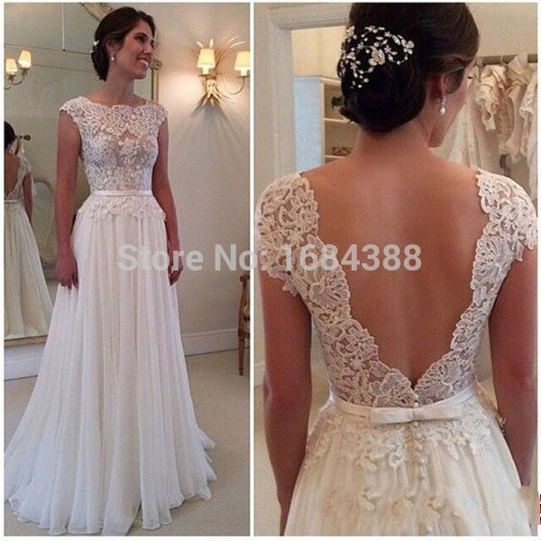 Blanc longue dos nu Sexy robes De bal 2015 dentelle longue robe De soirée  pour faire