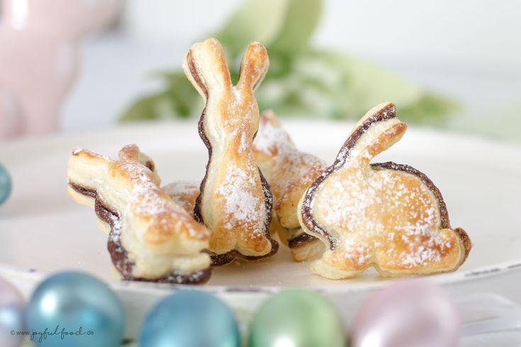 Ruck-Zuck Express Rezept für mega leckere Schoko Blätterteig Hasen. Wem Ostern die Zeit davon läuft, dann ist dieses Rezept genau das richtige für euch!