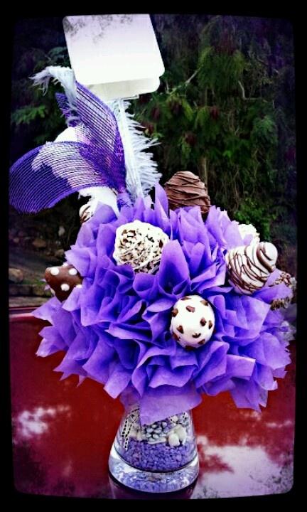 Purple strawberry bouquete!