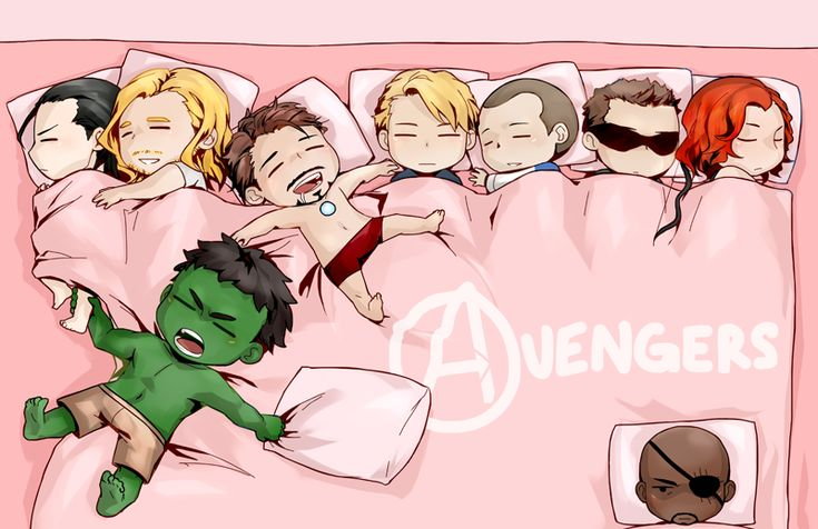 i don't know what the cutest part of this even is. maybe, i think, little hulk holding onto loki's ankle... <<< or Fury in the corner