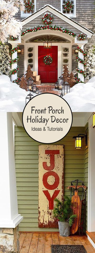 233 best outdoor christmas images on pinterest christmas decor creative ways to decorate your holiday front porch aloadofball Images
