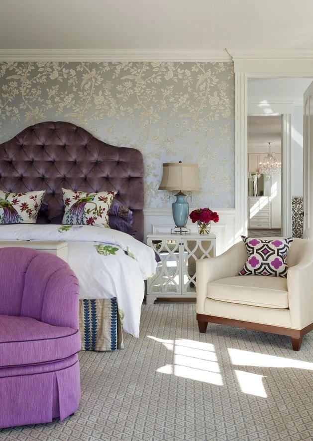 Мебель и предметы интерьера в цветах: фиолетовый, черный, серый, светло-серый, белый. Мебель и предметы интерьера в стилях: арт-деко.