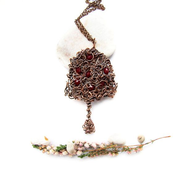 Celtic Tree Necklace Tribal Apple Tree Necklace Tree by KicaBijoux
