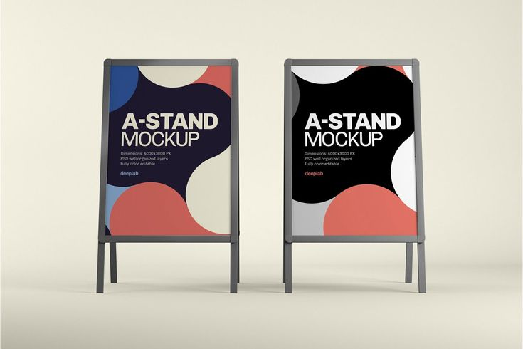 A Stand Board Mock Up Outdoor Advertising Mockup Outdoor Advertising Mockup