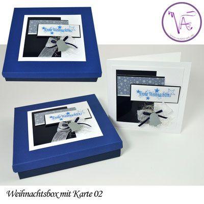 Weihnachtsverpackung - Box mit Weihnachtskarte  Nr. 02 ... eine tolle Idee um Gutscheine oder Geld originell zu verpacken ...