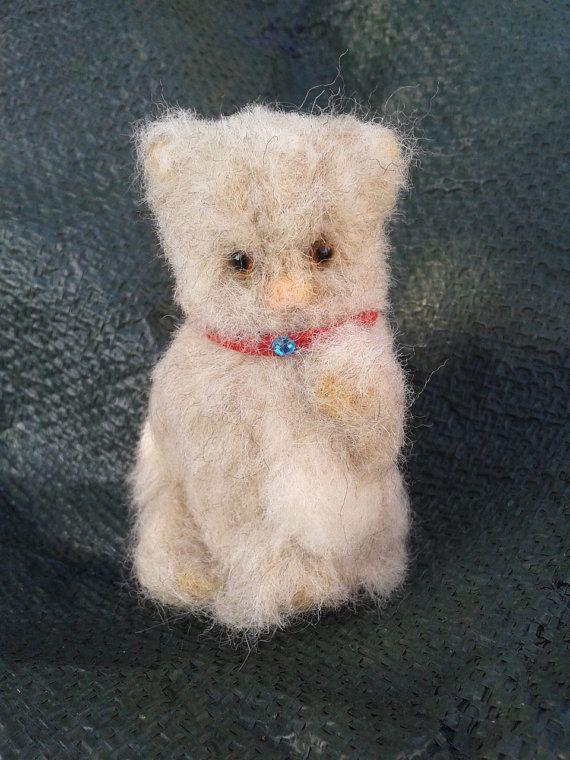 """Needle felt Miniature Kitty 3"""""""