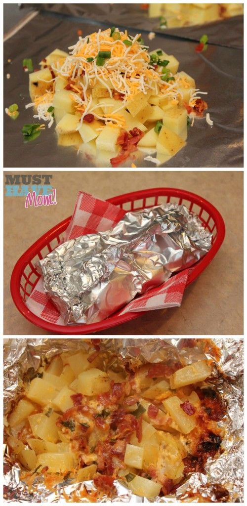 BBQ Sides Loaded Potato Foil Packs - Must Have Mom