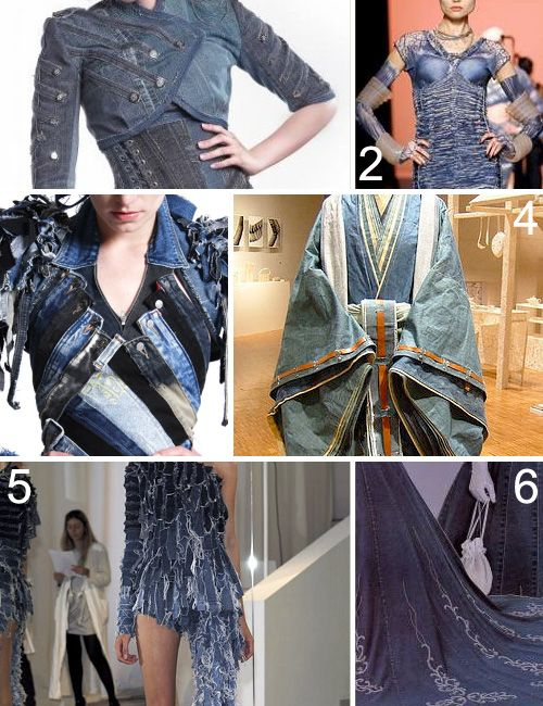 I like the denim kimono and yes must be heavy!  Otherwise interesting...kind of.