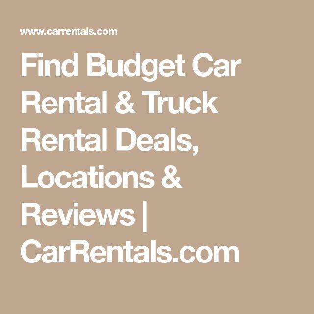 Find Budget Car Rental & Truck Rental Deals, Locations & Reviews | CarRentals.com