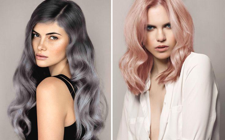 Argento e rosa metallico tra i capelli sono le due nuance colore di tendenza in questa stagione. Per un look glam e contemporaneo