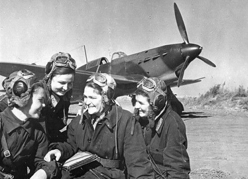"""The """"Night Witches"""" was the all female Night Bomber Reg. of the Soviet Air Forces that bombed German lines in WWII. They were equipped with the worst, oldest and noisest planes. The engines used to conk out halfaway through missions and they had to climb on the wings mid flight to restart the props. To stop germans from hearing and firing at them, they'd climb up to a certain height, coast down to German positions, drop their bombs, restart their engines in midair, and fly off.: World War, The Witch, Fighter Pilots, Nightwitch, Night Bomber, Night Witch, Air Force, Of The, Soviet Air"""