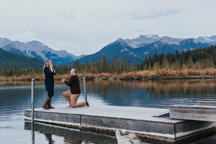 Banff Surprise Proposal Photography