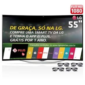 "Smart TV 3D OLED Curved 55"" Full HD LG 55EC9300 com Sistema WebOS, Wi-Fi, Entradas HDMI e USB, Controle Smart Magic, Câmera Skype e 4 Óculos 3D"