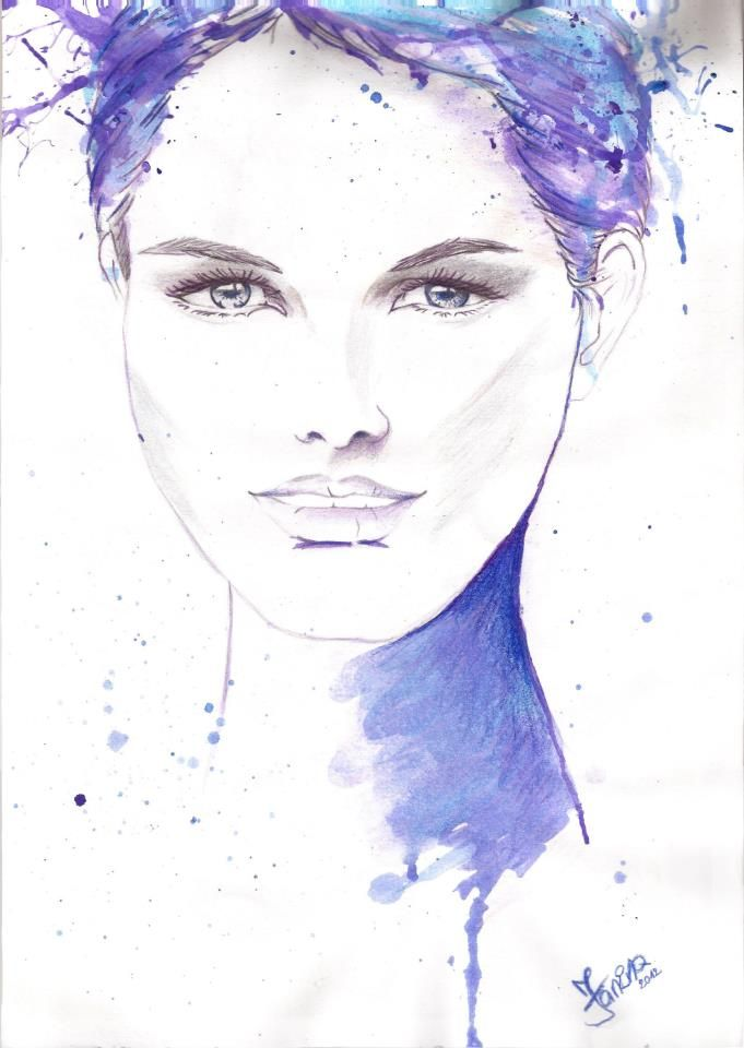 Copyright 2014 © Turquoise Janina, watercolor, girl