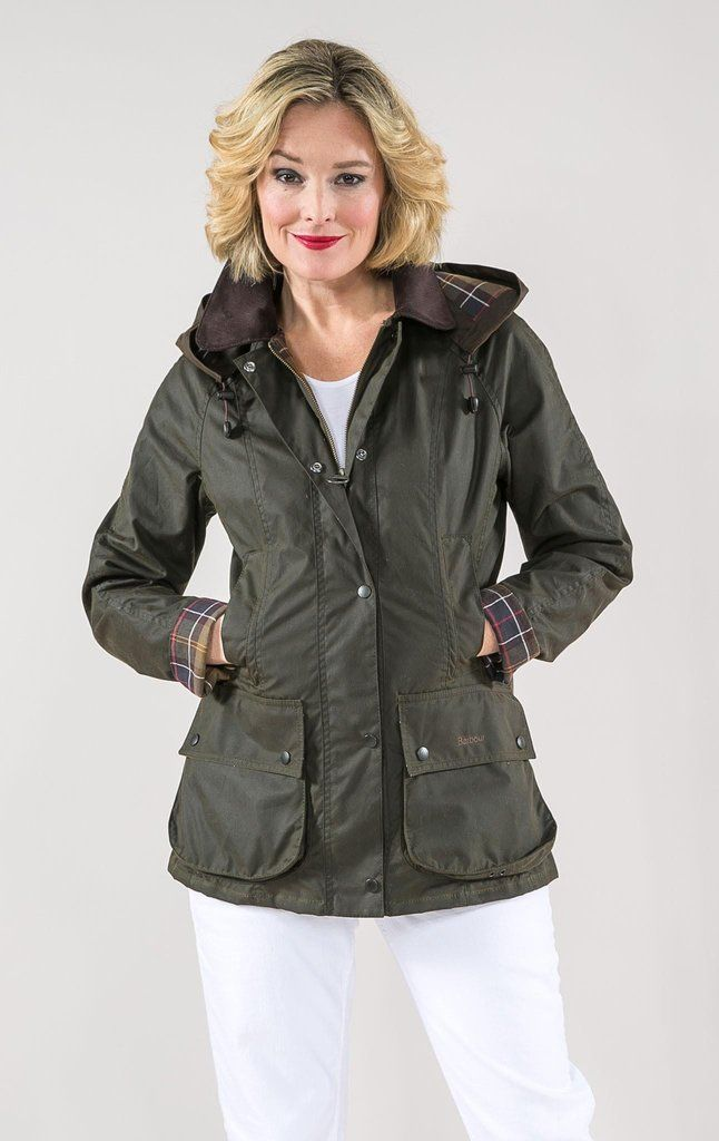 Waxed cotton Classic Beadnell jacket with hood
