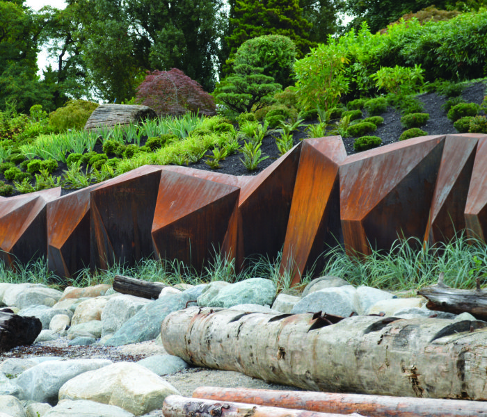 Metamorphous - A Corten Steel Seawall Sculpture by Paul Sangha Landscape Architects
