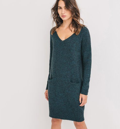 Robe pull Femme bleu canard - Promod                                                                                                                                                                                 Plus