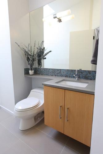 Mid Century Modern Guest Bathroom modern bathroom