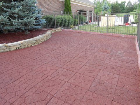 Driveway A Customer Did In Our Rubber Tiles We Also Make