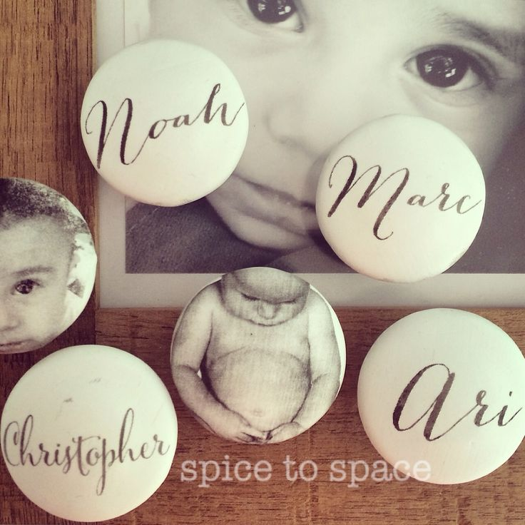 Personalise your furniture with handles featuring kids names www.spicetospace.com