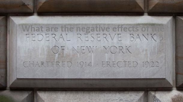 What are the #negative effects of the #Federal Reserve Bank?  Well the are plenty of negative effects with the Federal #Reserve starting with the fact that it has ZERO #integrity.  As some of you may or may not know, the gold price is driven down in the paper futures market by naked short selling by the Fed's dependent bullion #banks. http://www.quora.com/U-S-Federal-Reserve/What-are-the-negative-effects-of-the-Federal-Reserve-Bank