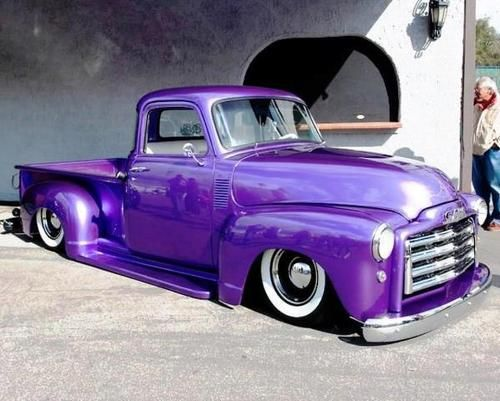 Classic Chevy truck - What the hell is up with this low-rider shit?  I HATE IT!  This is a beautiful truck too!