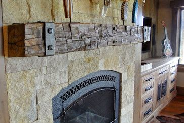 Antique Fireplace Mantels traditional-family-room. The old chestnut beam would be perfect with the forged attachments.