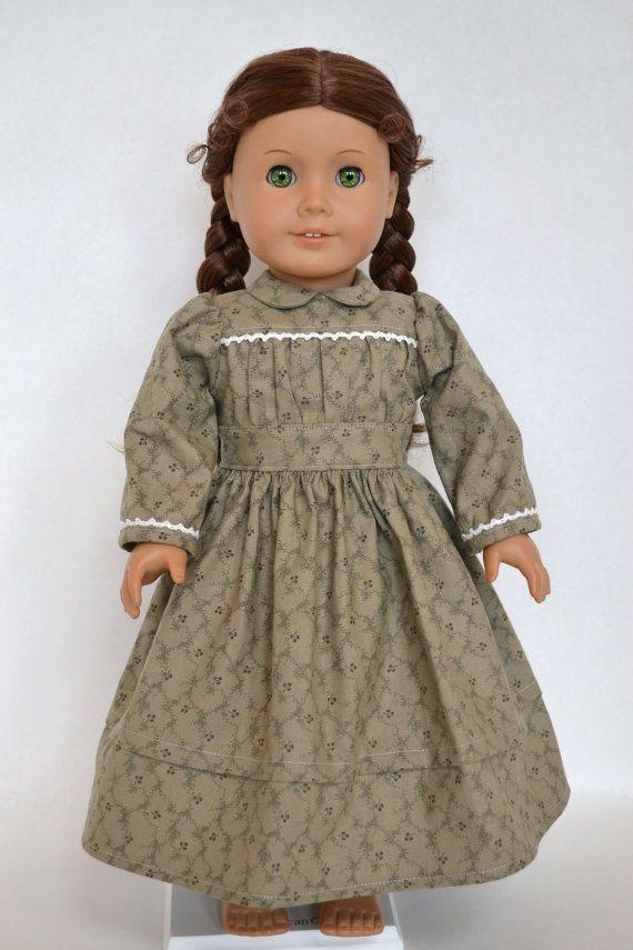 American Girl 18 Inch Doll Dress Historical Prairie Civil War - Army …
