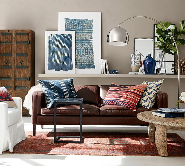Floor Cushion Pottery Barn : Miaou Applique Lumbar Pillow Cover global homewares Pinterest Vase, Leather and Floor lamps