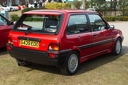 Rover Metro GTi. Would love to own one some day. 90 bhp in a shoe box, is a pocket rocket!