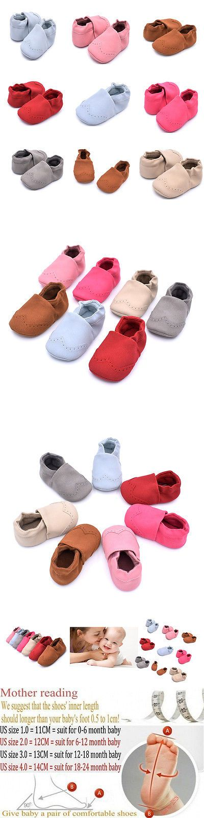 Baby Girls Shoes: Baby Soft Sole Suede/Leather Shoes Infant Boy Girl Toddler Moccasin 0-18M BUY IT NOW ONLY: $3.59