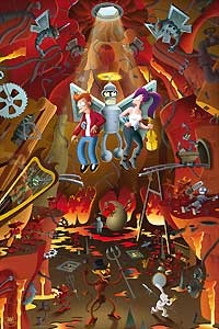 Futurama - Escape from the Bowels of Hellish Delight - 20th Century Fox - World-Wide-Art.com - $145.00 #Futurama