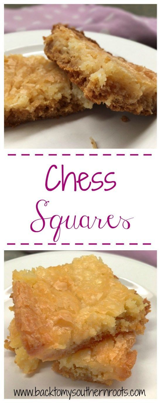 Chess squares are such an easy recipe. They are quick and easy to make, and all your friends will be desperate for another piece. Click on the picture and grab the recipe.