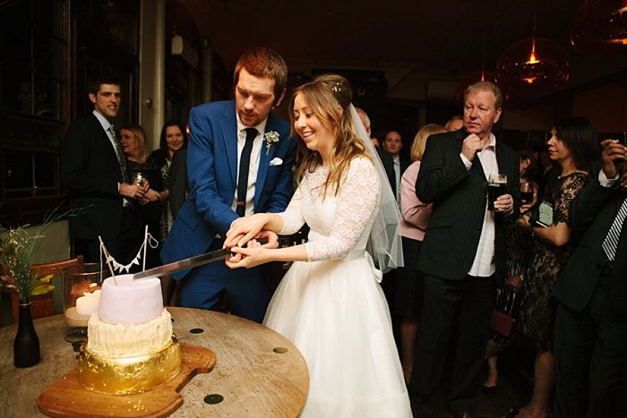 Tom and Eve had a fun and relaxed London pub wedding after their town hall ceremony in Stoke Newington. Photography by Joanna Brown