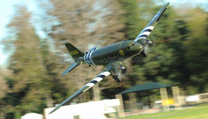 Dynam 4-CH C47 Transporter 1470MM Brushless RC Remote Control Twin Engine Airplane 2.4G RTF (Green)
