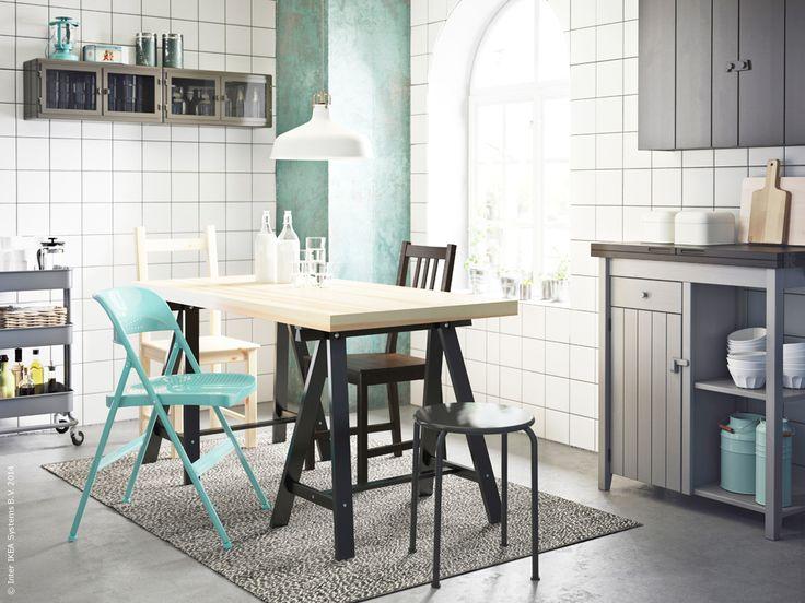 TORNLIDEN ODDVALD bord OLOFSTORP sidobord och väggskåp, RåSKOG rullvagn och väggskåp i