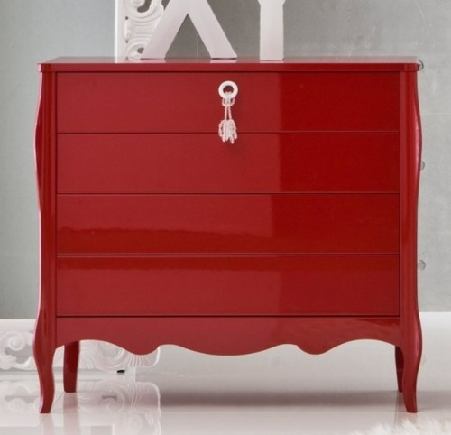 red high gloss furniture. stunning red high gloss lacquer chest of drawers furniture