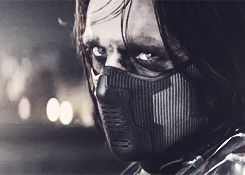 If you look really close at Bucky's eyes, he is crying a little... I find it interesting he gives the shield back.