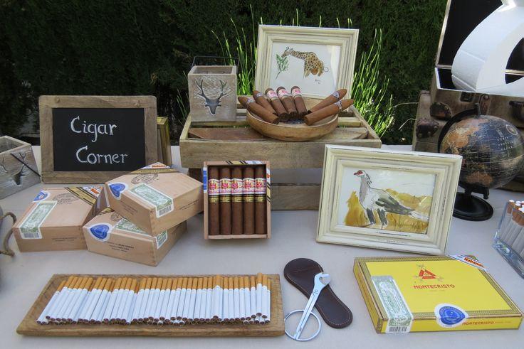 Cigar corner con detalles de caza (acuarelas y velas)  By More than Events