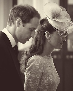 William and Catherine at Jubilee service - they make such a beautiful couple.