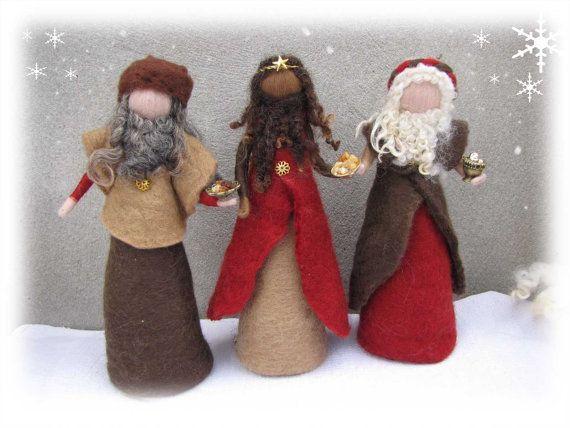 Aguja de fieltro y fieltro húmedo fieltro Natividad por LivelySheep
